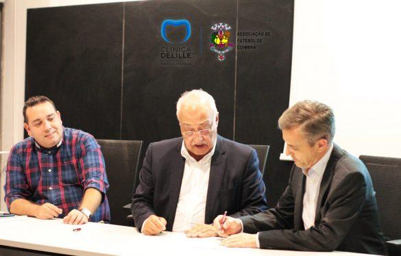 Protocolo entre a Clínica Delille e a Associação de Futebol de Coimbra