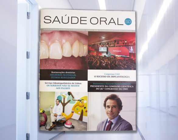Dr. Cristiano Alves no tema de capa da revista Saúde Oral